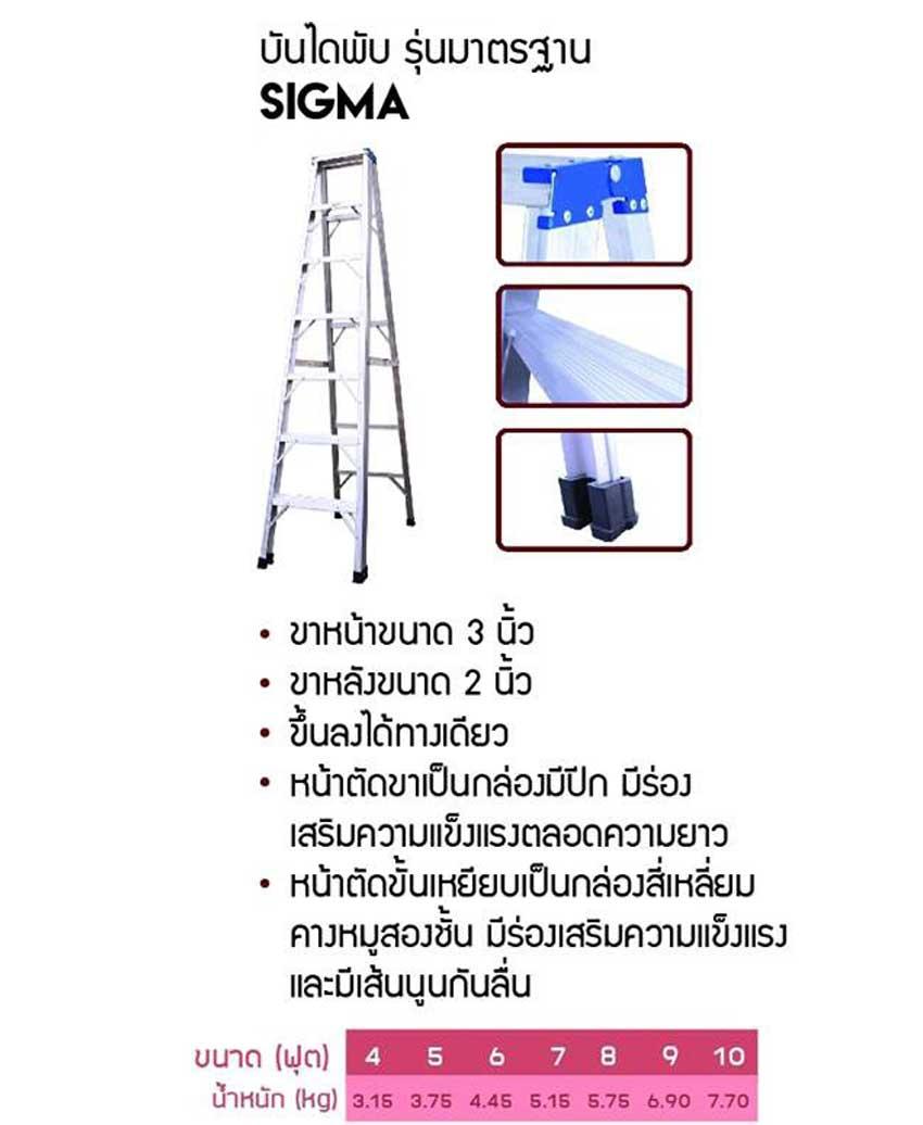 บันไดพับ รุ่นมาตรฐาน sigma